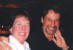 Bob Free and Sister Janice smile for camera.