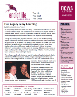 Page one of Fall 2020 Newsletter